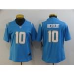 Women Chargers #10 Justin Herbert Light Blue Vapor Untouchable Limited Nike Jersey
