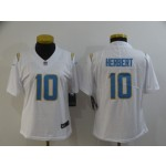Women Chargers #10 Justin Herbert White Vapor Untouchable Limited Nike Jersey