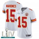 Chiefs #15 Patrick Mahomes White Super Bowl LIV Bound Men's Stitched Football Vapor Untouchable Limited Jersey