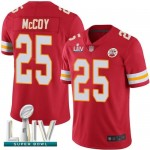 Chiefs #25 LeSean McCoy Red Team Color Super Bowl LIV Bound Men's Stitched Football Vapor Untouchable Limited Jersey