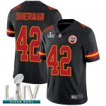 Chiefs #42 Anthony Sherman Black Super Bowl LIV Bound Men's Stitched Football Limited Rush Jersey