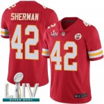 Chiefs #42 Anthony Sherman Red Team Color Super Bowl LIV Bound Men's Stitched Football Vapor Untouchable Limited Jersey