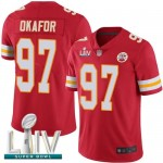 Chiefs #97 Alex Okafor Red Team Color Super Bowl LIV Bound Men's Stitched Football Vapor Untouchable Limited Jersey
