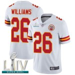 Chiefs #26 Damien Williams White Super Bowl LIV Bound Men's Stitched Football Vapor Untouchable Limited Jersey