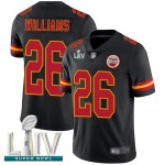 Chiefs #26 Damien Williams Black Super Bowl LIV Bound Men's Stitched Football Limited Rush Jersey