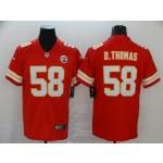 NFL Chiefs #58 Derrick Thomas Red Vapor Untouchable Limited Jersey