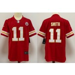 NFL Chiefs #11 Smith Red Vapor Untouchable Limited Jersey