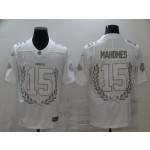 Men's Kansas City Chiefs #15 Patrick Mahomes White Nike Platinum NFL MVP Limited Edition Jersey