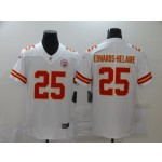 Nike Chiefs #25 Clyde Edwards-Helaire White 2020 NFL Draft First Round Pick Vapor Untouchable Limited Jersey