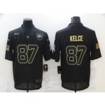 Nike Chiefs #87 Travis Kelce Black 2020 Salute To Service Limited Jersey