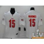 Men's Kansas City Chiefs #15 Mahomes white Super Bowl LV 2021 Vapor Untouchable Stitched Limited NFL Jerseys