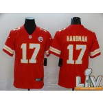 Men's Kansas City Chiefs #17 Haroman Red 2021 Super Bowl LV Vapor Untouchable Limited NFL Jersey