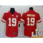 Men's Kansas City Chiefs #19 Montana Red Super Bowl LV 2021 Vapor Untouchable Limited NFL Jersey