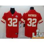 Men's Kansas City Chiefs #32 Mathieu Red Super Bowl LV 2021 Vapor Untouchable Limited NFL Jersey