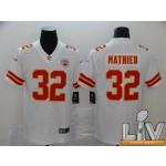 Men's Kansas City Chiefs #32 Mathieu White Super Bowl LV 2021 Vapor Untouchable Limited NFL Jersey