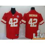 Men's Kansas City Chiefs #42 Sherman Red Super Bowl LV 2021 Vapor Untouchable Limited NFL Jersey