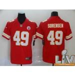 Men's Kansas City Chiefs #49 Sorensen Red Super Bowl LV 2021 Vapor Untouchable Limited NFL Jersey