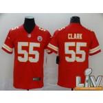 Men's Kansas City Chiefs #55 Clark Red 2021 Super Bowl LV Vapor Untouchable Limited NFL Jersey