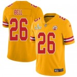 Nike Chiefs #26 Le'Veon Bell Gold Men's Super Bowl LV Bound Stitched NFL Limited Inverted Legend Jersey