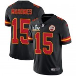 Nike Chiefs #15 Patrick Mahomes Black Men's Super Bowl LV Bound Stitched NFL Limited Rush Jersey