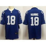 NFL Indianapolis Colts #18 Peyton Manning blue Vapor Untouchable Limited Jersey