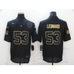 Nike Colts #53 Darius Leonard Black 2020 Salute To Service Limited Jersey