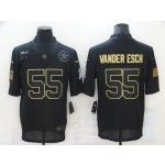 Nike Cowboys #55 Leighton Vander Esch Black 2020 Salute To Service Limited Jersey