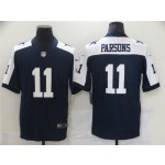 Men's Cowboys #11 Micah Parsons Navy Thanksgiving 2021 NFL Draft Alternate Limited Jersey