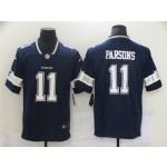 Men's Dallas Cowboys #11 Micah Parsons Navy 2021 NFL Draft Vapor Limited Jersey