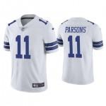 Men's Dallas Cowboys #11 Micah Parsons White 2021 NFL Draft Vapor Limited Jersey