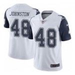 Men's Dallas Cowboys #84 Daryl Johnston White Nike Rush Limited Jersey