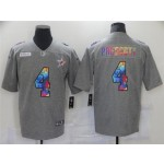 Dallas Cowboys #4 Dak Prescott Gray Rainbow Vapor Limited Jersey