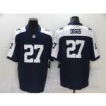 Dallas Cowboys #27 Trevon Diggs Thanksgiving Blue Vapor Limited Jersey
