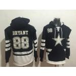 NFL Dallas Cowboys #88 Dez Bryant Navy Blue All Stitched Hooded Sweatshirt