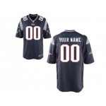 NFL New England Patriots Customized Navy Blue Jersey