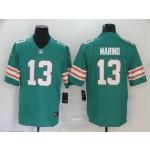 NFL Dolphins #13 Dan Marino Aqua Throwback Vapor Untouchable Limited Jersey