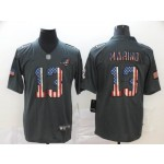 NFL Miami Dolphins #13 Dan Marino Grey Salute To Service USA Flag Fashion Limited Jersey