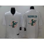 Nike Dolphins #1 Tua Tagovailoa White Shadow Logo Limited Jersey