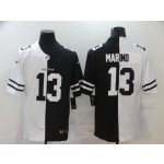 Nike Dolphins #13 Dan Marino Black And White Split Vapor Untouchable Limited Jersey