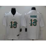 Nike Dolphins #13 Dan Marino White Shadow Logo Limited Jersey