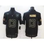 Nike Dolphins #13 Dan Marino Black 2020 Salute To Service Limited Jersey
