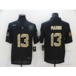 Nike Dolphins #13 Dan Marino Black Camo 2020 Salute To Service Limited Jersey