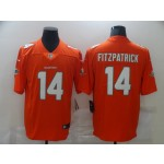 Nike Dolphins #14 Ryan Fitzpatrick Orange Vapor Untouchable Limited Jersey