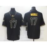 Miami Dolphins #17 Jaylen Waddle Black Gold Vapor Limited Jersey
