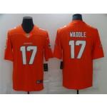 Miami Dolphins #17 Jaylen Waddle Orange Vapor Limited Jersey