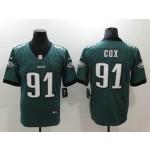 NFL Philadelphia Eagles #91 Fletcher Cox Green Vapor Untouchable Limited Jersey