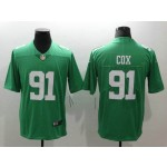 NFL Philadelphia Eagles #91 Fletcher Cox Light Green Vapor Untouchable Limited Jersey