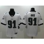 NFL Philadelphia Eagles #91 Fletcher Cox White Vapor Untouchable Limited Jersey