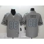 NFL Philadelphia Eagles #86 Zach Ertz 2019 Gray Gridiron Gray Vapor Untouchable Limited Jersey
