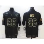 Nike Eagles #86 Zach Ertz Black 2020 Salute To Service Limited Jersey